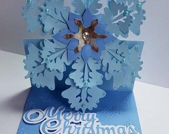 Christmas snowflake card.