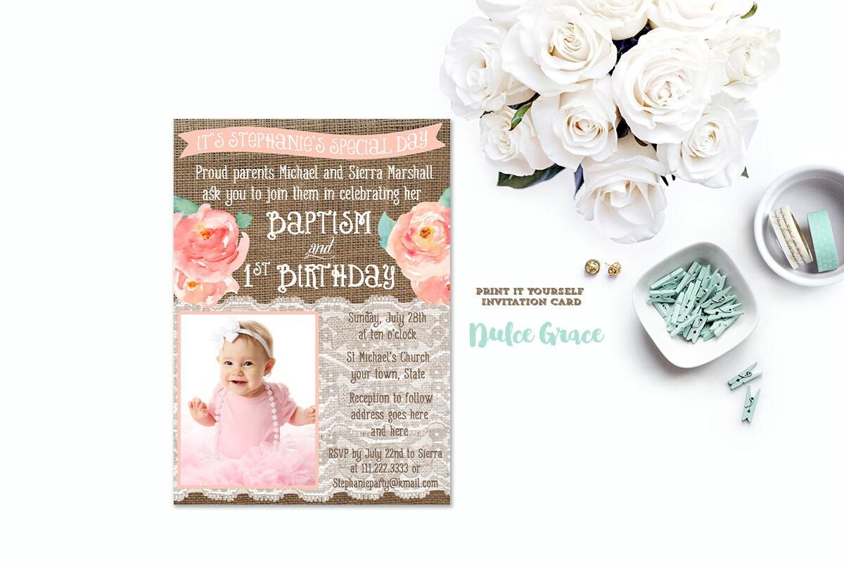 Baptism birthday invitations joint birthday baptism invites zoom solutioingenieria Gallery