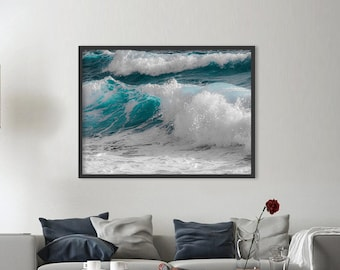 Ocean print, wave print, ocean wall art, ocean photography, ocean waves print, ocean decor, water print, ocean waves art, DIGITAL FILES