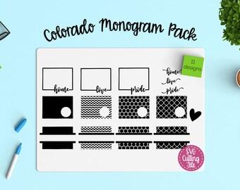 11 Colorado SVG - Colorado State SVG - Colorado Monogram Frames - Colorado Pride - Colorado Love - Colorado Home