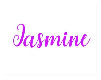 Name Decal Vinyl Decal Label Custom Name One Word or One Name Labeling