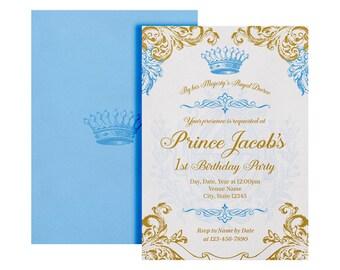 Royal Prince Invitation - Printable - Royal Prince Invite - Royal Prince Birthday Invitation- Royal Prince Birthday Party