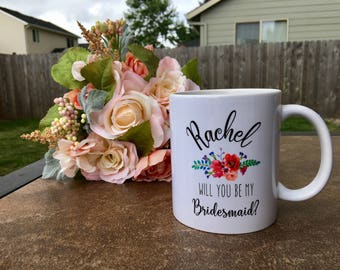 maid of honor mug / maid of honor gift / maid of honor / personalized mug / bridesmaid mug / bridesmaid gift / bridal party gift / wedding