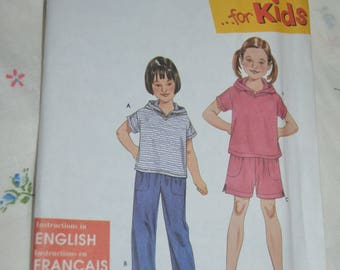 Simplicity 9170 Childs Pants or Shorts and Knit Top Sewing Pattern - UNCUT  - Size 3 4 5 6 7 8