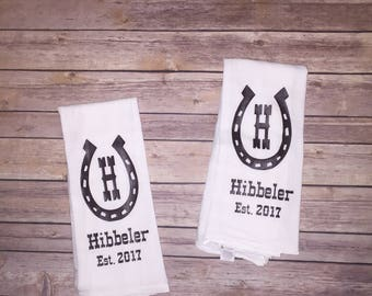 Customized kitchen decor towels