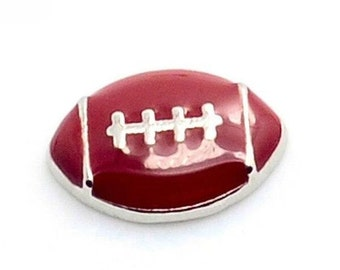 Football Sports Floating Locket Charm Living Memory Lockets Jewelry Making Supplies - 61r