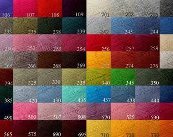 WOOL yarn 100% - fingering weight knitting yarn   (4 yarn balls)