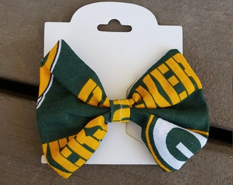 Green Bay Packers Hair Bow or Bow Tie