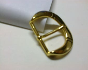 "Rounded ""D-shaped"" buckle brass passage 3cm * BO74 *."