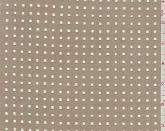 Dark Tan Laser Cut Microsuede Knit, Fabric By The Yard
