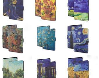 Van Gogh Printed Art Design Kindle Paperwhite PU Leather Cover Case