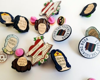 SECONDS - Enamel Pin - Enamel pins - Feminist Enamel Pin - Pin seconds - Seconds pin - Feminist pin - Bookish and Bakewell - Seconds sale