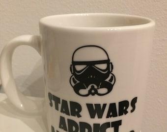 Star Wars inspired mug - Star Wars addict and proud