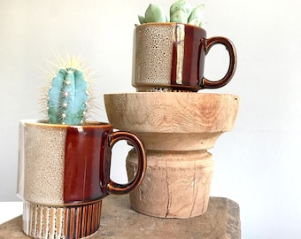 Coffee Cup/Mug, Ceramic Planter, Stacking Cups