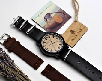 Wooden watch,  engraved Wooden Watch, Gift for Him, Mens Wood Watch, Wooden Watches, Wedding Gift, Mens Watch, Wood Watch, Groomsmen Gift