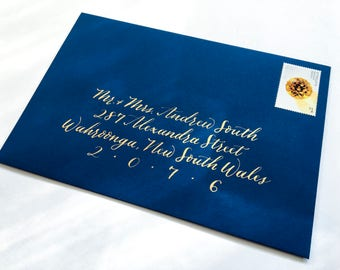 Classic Hand Lettered Envelope Addressing