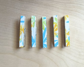 Memo clips, organizer clips, magnet clips, flower magnets, planner clips, house warming, Gift Ideas, hostess gift, Wooden Magnets