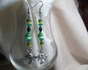Mansfield hornets earrings 32