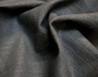 Linen Slub Charcoal Fabric
