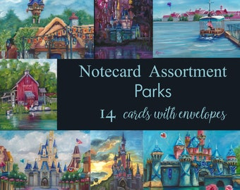 disney art, notecards, thank you cards, custom cards, greeting cards, cards, notes, stationary, parks