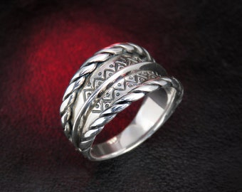 Unique ethnic silver ring, Latvian national ring, ancient ring, Baltic jewelry, Latvian jewelry, Latvian ring, women's ring, silver ring