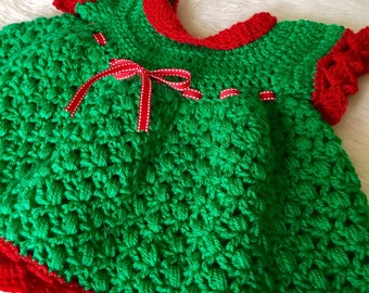 Newborn baby dress baby girl dress Prop baby photoshoot Crochet baby dress Christmas baby girl dress Cute baby girl shower gift
