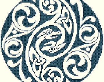 Celtic Animorph Cross Stitch Pattern - Digital Download