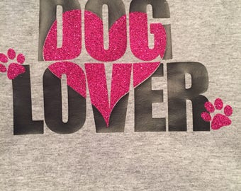 "Very cute ""Dog Lover"" tshirt"
