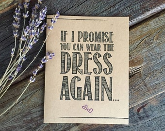 Bridesmaid Proposal Funny, Bridesmaid Gift Rustic Bridesmaid Card Funny Bridesmaid Proposal Card ou Can Wear the Dress Again Rustic