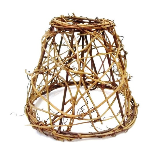 Metal Clip On Lamp Shade: Small Woven Vine Lampshade Twig Lamp Shade 5 Clip On