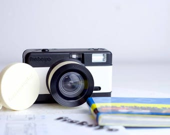 Lomography Fisheye One Black and White with Manual, Lens Cap, Strap, and Book