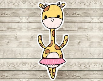 Ballerina Ginger the Giraffe Non-Adhesive Cardstock Die Cut (1)