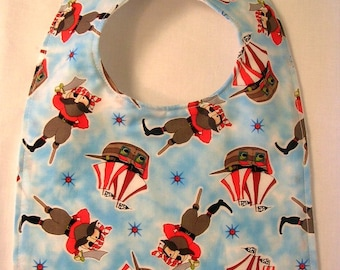 SALE Baby Bib, Baby Boy Bib, Baby Bibs,  Pirate Baby Bib, Baby Shower Gift, Infant Bib