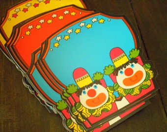 Vintage Circus Clown Award / Name Tag / Gift Cards - 1970s Unused NOS USA Made by Trend Enterprises - Reusable Wipe off / Dry Erase Surface