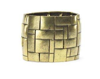 Brass Cobblestone Bracelet