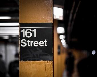 161st Street - Yankee Stadium Subway Station Sign/Platform II - The Bronx/New York City (Wall Art Prints)