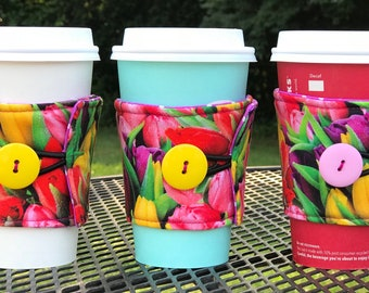 Tulips Coffee wrap bright colors!