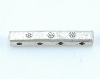 Thai Silver 4-hole Spacer Bar (A28)