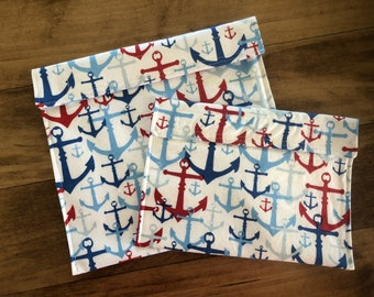 Anchors - Reusable Snack & Sandwich Bags
