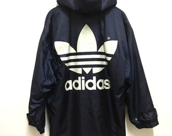 Rare!! ADIDAS Trefoil Crewneck Big Logo Spellout Medium Size Sweatshirt sportwear gift pullover jumper ZrgBdNZs