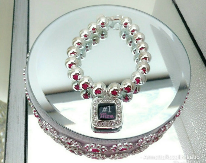 Silver 925 Beaded Ladies Charm mother's day Bracelet, mother's day gifts, birthday gifts, anniversary gifts,