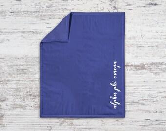 APhiO Alpha Phi Omega Script Sweatshirt Blanket Throw Greek Licensed Sorority Gift