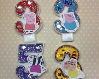 Peppa Pig Birthday Party Number Candle