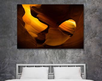 Fine art landscape photography - Antelope Canyon Pendulum Swings Wide - original home decor wall art