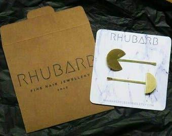 Hair pins - geometric barrette - gold hair slides - boho hair clips - bohemian hair - birthday gift - teen gift - bobby pin - modern - OPEIA