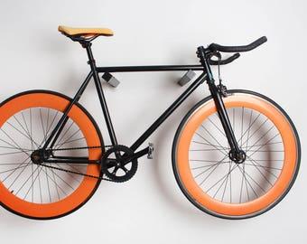 Dublin - Wooden wall bike rack / bike hanger / bike holder / Black