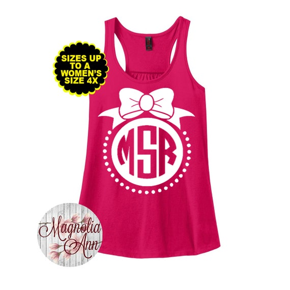 Monogram Tank Top, Women's Racerback Tank Top, Plus Size Monogram Tank, Bridal Party Tanks, Monogrammed Bridesmaid Shirts, Plus Size Shirt