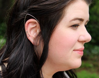 Elven Ear Cuffs - Fairy Elf Elfin Faerie - Simple Plain Basic