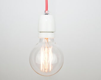 Ceramic Lamp Socket with Textile Cable