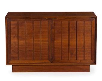 Vintage Mid Century Modern Walnut Credenza Cabinet